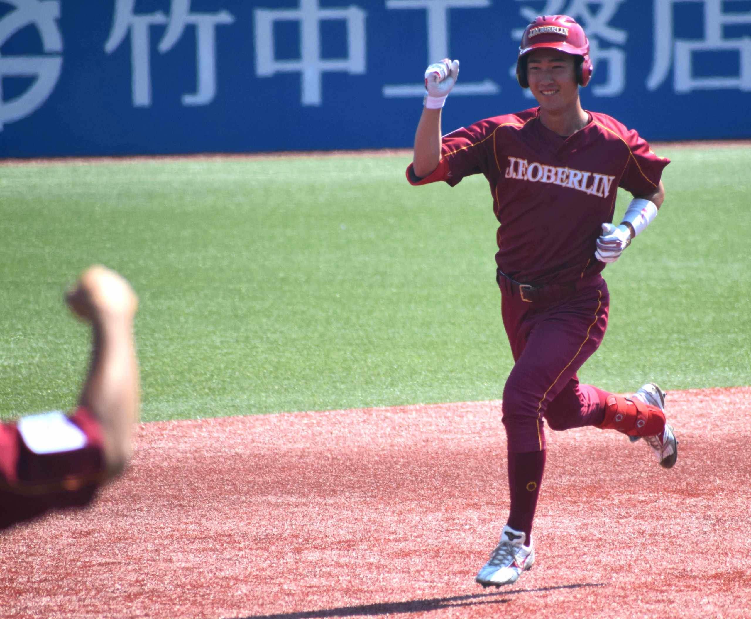 大学選手権で2点本塁打を打った森田智貴